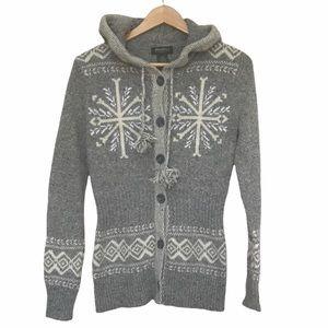 Eddie Bauer fitted wool blend knit sweater M